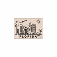 Hero Arts - Woodblock - Wood Mounted Stamps - Destination Florida