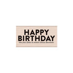 Hero Arts - Woodblock - Wood Mounted Stamps - Snarky Birthday