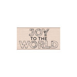 Hero Arts- Season of Wonder Collection - Christmas - Woodblock - Wood Mounted Stamps - Joy To The World