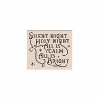 Hero Arts- Season of Wonder Collection - Christmas - Woodblock - Wood Mounted Stamps - Silent Night Message