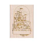 Hero Arts - From The Vault - Woodblock - Wood Mounted Stamps - Castle Book Plate