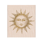 Hero Arts - From The Vault - Woodblock - Wood Mounted Stamps - Etched Serene Sun