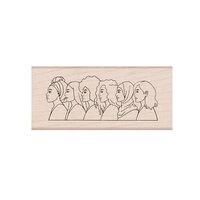 Hero Arts - Woodblock - Wood Mounted Stamps - American Women