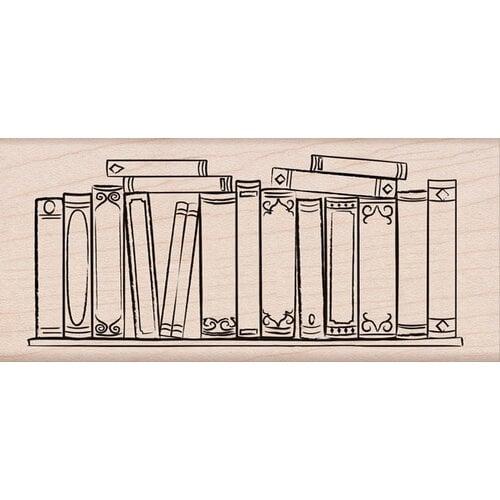 Hero Arts - Woodblock - Wood Mounted Stamps - Bookshelf