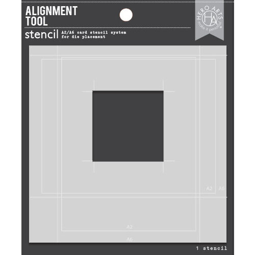 Hero Arts - Stencils - Alignment Tool - A2 and A6