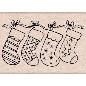 Hero Arts - Woodblock - Christmas - Wood Mounted Stamps - Christmas Stockings