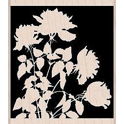 Hero Arts - Woodblock - Wood Mounted Stamps - Silhouette Meadow Flowers