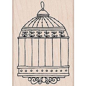 Hero Arts - Woodblock - Wood Mounted Stamps - Birdcage