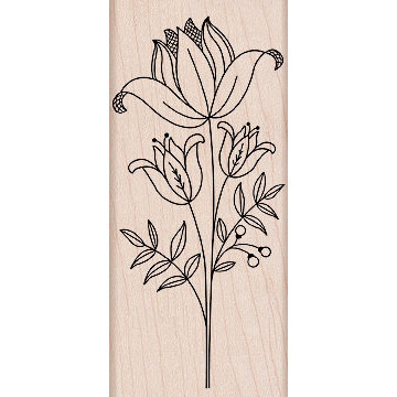 Hero Arts - Woodblock - Wood Mounted Stamps - Tall Flower