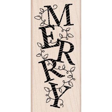 Hero Arts - Woodblock - Christmas - Wood Mounted Stamps - Merry Lights