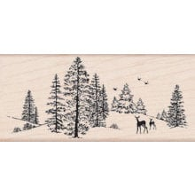 Hero Arts - Woodblock - Christmas - Wood Mounted Stamps - Winter Scene
