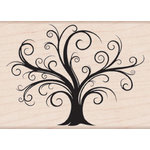 Hero Arts - Woodblock - Christmas - Wood Mounted Stamps - Decorative Flourish Tree
