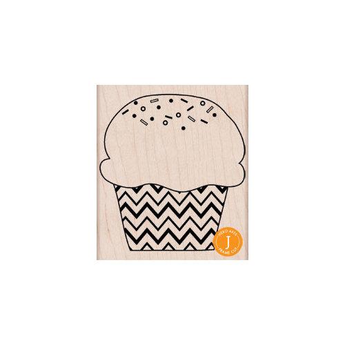 Hero Arts - Woodblock - Wood Mounted Stamps - Zig Zag Cupcake
