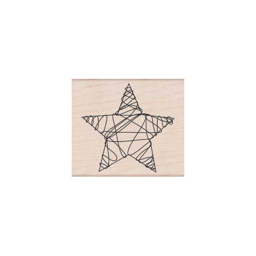 Hero Arts - Woodblock - Christmas - Wood Mounted Stamps - Wire Star