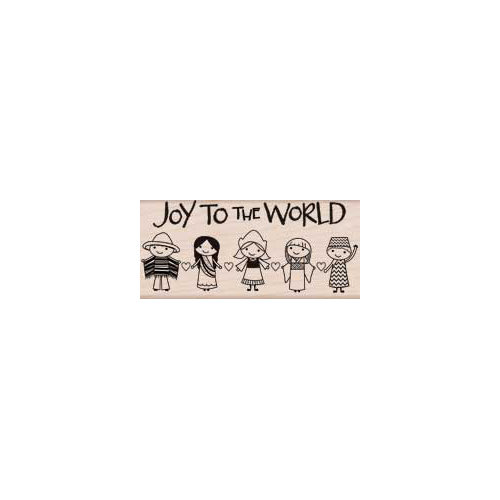 Hero Arts - Woodblock - Christmas - Wood Mounted Stamps - Joy to the World