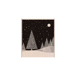 Hero Arts - Woodblock - Christmas - Wood Mounted Stamps - Winter Moon