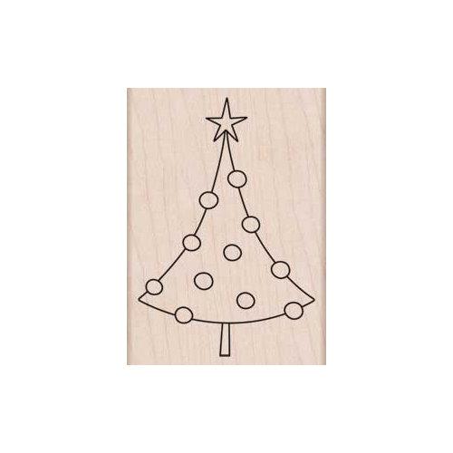 Hero Arts - Woodblock - Christmas - Wood Mounted Stamps - Circle Ornament Tree