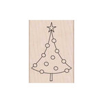 Hero Arts - Woodblock - Christmas - Wood Mounted Stamps - Circle Ornament Tree