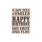 Hero Arts - Woodblock - Wood Mounted Stamps - Go Out and Play
