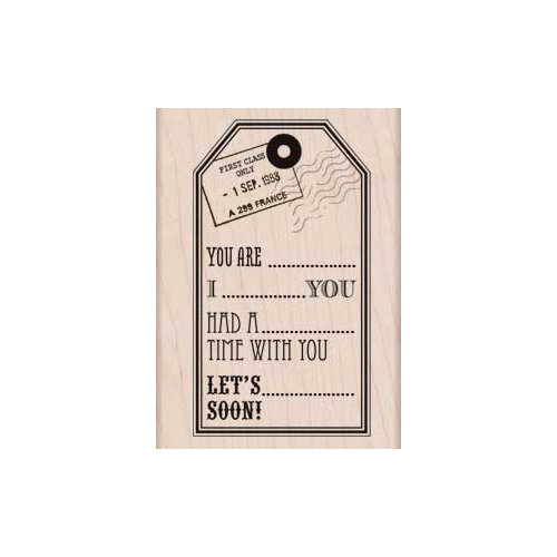 Hero Arts - Woodblock - Wood Mounted Stamps - You Are Tag