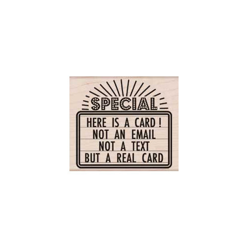 Hero Arts - Woodblock - Wood Mounted Stamps - This is a Real Card