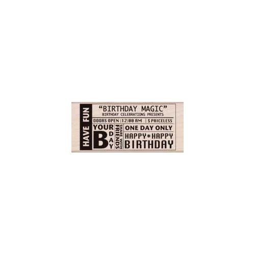 Hero Arts - Woodblock - Wood Mounted Stamps - Birthday Magic