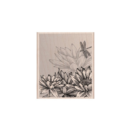 Hero Arts - Woodblock - Wood Mounted Stamps - Flowers and Strips