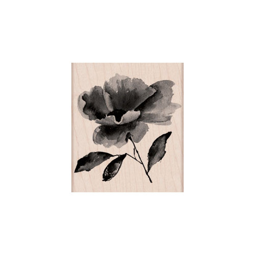 Hero Arts - Woodblock - Wood Mounted Stamps - Painted Flower