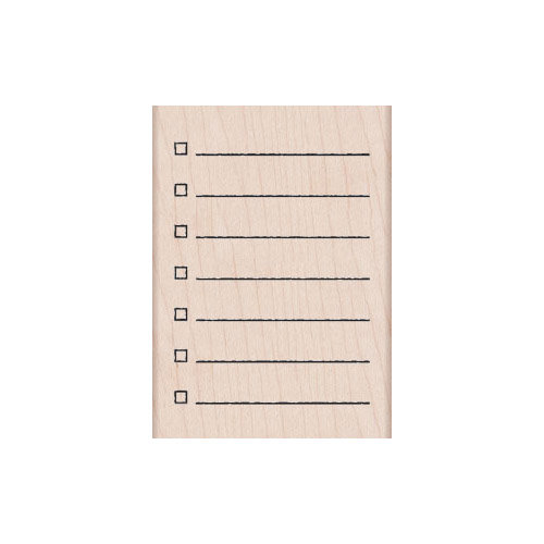 Hero Arts - Stamp Your Story Collection - Woodblock - Wood Mounted Stamps - My Checklist