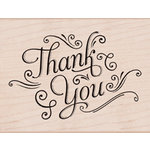 Hero Arts - Wood Block - Wood Mounted Stamp - Thank You With Flourishes