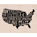 Hero Arts - Wood Block - Wood Mounted Stamp - Leave a Trail