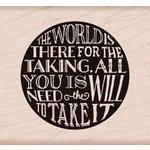 Hero Arts - Wood Block - Wood Mounted Stamp - World for Taking