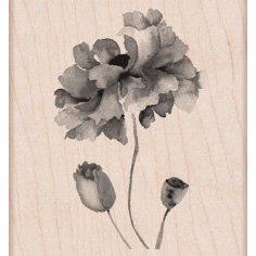 Hero Arts - Wood Block - Wood Mounted Stamp - Petals of Beauty