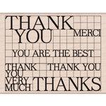 Hero Arts - Wood Block - Wood Mounted Stamp - Thank You Grid