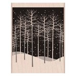 Hero Arts - Woodblock - Christmas - Wood Mounted Stamps - Winter Trees Scene