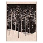 Hero Arts - Woodblock - Christmas - Wood Mounted Stamps - Winter Trees Scene