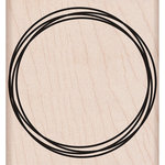 Hero Arts - Woodblock - Wood Mounted Stamps - Overlap Circle Frame
