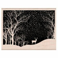 Hero Arts - Woodblock - Christmas - Wood Mounted Stamps - Snowy Scene