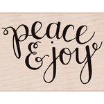 Hero Arts - Woodblock - Christmas - Wood Mounted Stamps - Peace and Joy