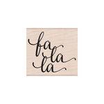 Hero Arts - Woodblock - Christmas - Wood Mounted Stamps - Fa La La Message