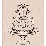 Hero Arts - Birthday Collection - Woodblock - Wood Mounted Stamps - Fancy Birthday Cake