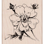 Hero Arts - Spring Collection - Woodblock - Wood Mounted Stamps - Antique Rose Stem