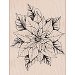 Hero Arts - Woodblock - Wood Mounted Stamps - Antique Poinsettia
