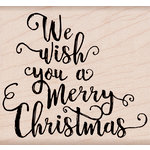 Hero Arts - Woodblock - Wood Mounted Stamps - We Wish You A Merry Christmas
