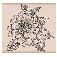 Hero Arts - Garden Collection - Woodblock - Wood Mounted Stamps - Artistic Dahlia
