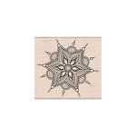 Hero Arts - Woodblock - Wood Mounted Stamps - Henna Flower Pattern