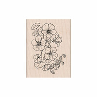 Hero Arts - Woodblock - Wood Mounted Stamps - Flowering Nasturtium