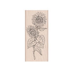Hero Arts- Season of Wonder Collection - Woodblock - Wood Mounted Stamps - Hero Florals Sunflower Stem