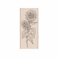 Hero Arts- Season of Wonder Collection - Woodblock - Wood Mounted Stamps - Hero Florals Sunflower Stem