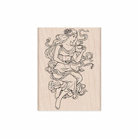 Hero Arts - Woodblock - Wood Mounted Stamps - Mocha Maiden